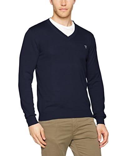 Trussardi Jeans Jersey Azul Marino