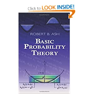 Basic Probability Theory (Dover Books on Mathematics) Robert B. Ash