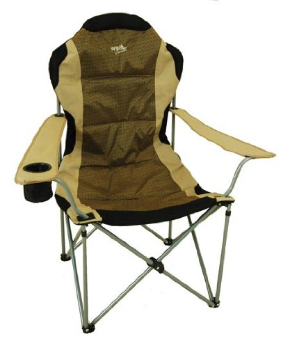 High Back Folding Camp Chair Padded & Drink Holder $39 95