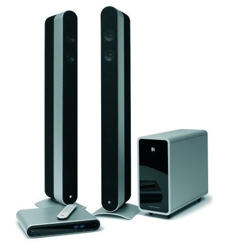 KEF KIT160  Heimkinosystem ( CD/DVD-Player, Scart-Anschluss, HDMI) silber