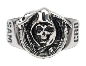 Sons of Anarchy Grim Reaper Skull Stainless Steel Ring from Sons of Anarchy