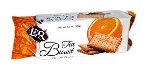 Lior Tea Biscuit, Orange, 150-Grams (Pack of 24)