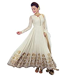 Tomorrow Culture Women's Georgette Anarkali Suit Dress Material