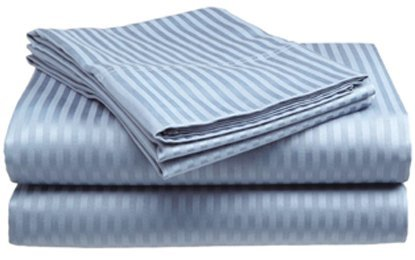 Twin Size Light Blue Sateen Sheet Set