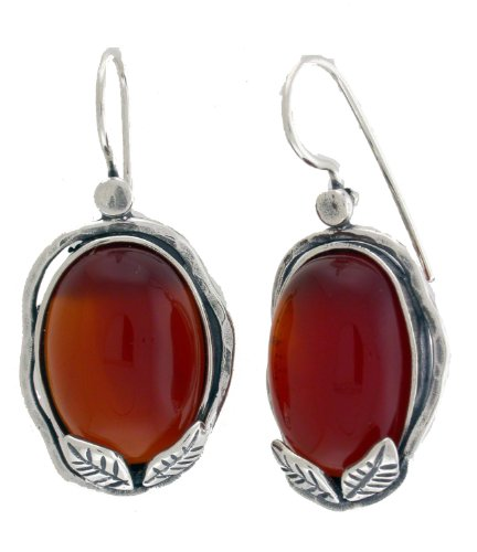 Silver Jewelry Earring on 925 Sterling Silver. Custom Handmade in Israel by Bili Silver. Two 13/18mm Oval Cabochon Carnelian. Hook Earrings with locking Back. Shipped directly from Tel Aviv in a Gift Box. Great Gift for Wedding, Bridesmaid, Bat Mitzvah, Engagement, Graduation, Mother's Day, Birthday, Anniversary and Valentine.