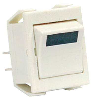 JR Products 13371-5 Green Light SPST On/Off Switch - Pack of 5
