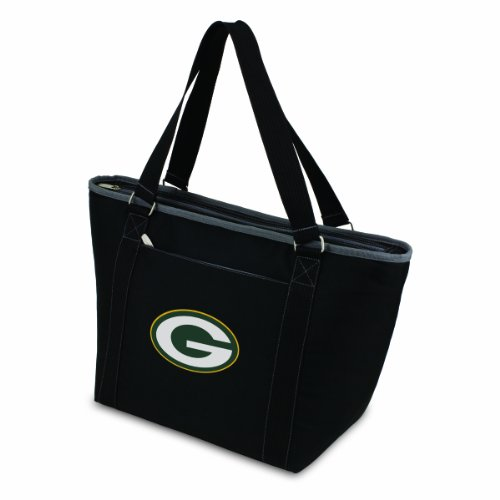 NFL Green Bay Packers Topanga Insulated Cooler Tote, Black from Picnic Time