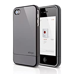 Elago S4 Glide Case for Black Version AT&T Sprint and Verizon iPhone 4/4S(Not for White Iphone) (Piano Black) - ECO PACK