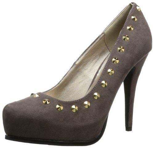 Victoria Delef Womens DRESSY SHOE Peep-Toe Gray Grau (TOPO) Size: 3.5 (36 EU)