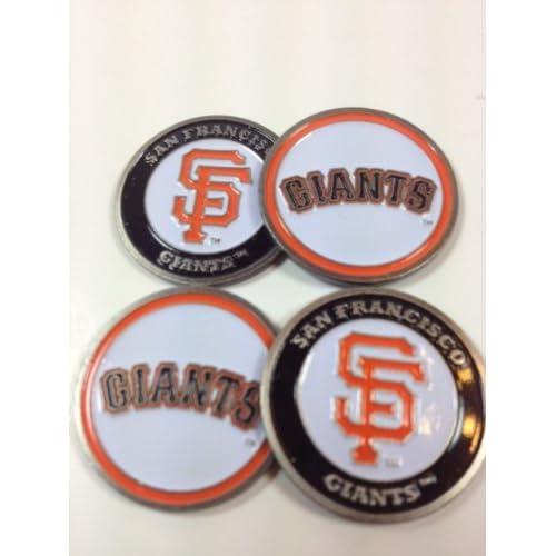 Amazon.com : Four (4) San Francisco Giants Golf Ball Markers - 2 sided