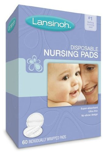 Lansinoh 20265 Disposable Nursing Pads, One box of 60-ct pads [Item #17174]