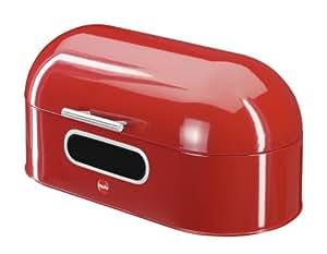 Hailo 0833-650 Boîte à Pain Ovale Tôle d'Acier Rouge
