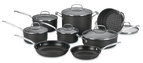 Cuisinart 66-14 Chef's Classic Nonstick Hard-Anodized 14-Piece Cookware Set (Pan Set Cuisinart compare prices)