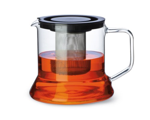 Simax Glassware 3270/Met 7.6-Cup Teapot With Metal Tea Strainer