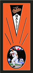 Baltimore Orioles Wool Felt Mini Pennant & Cal Ripken Jr Photo - Framed With Team... by Art and More, Davenport, IA