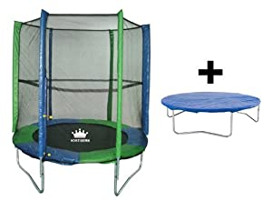 Vortigern 6ft Trampoline + Safety Net + free cover 6' CE and TUV approved