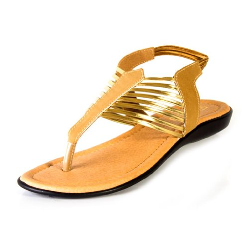 Beauty Blue Beauty Women's Synthetic Casual Sandals (Yellow)