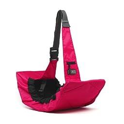 Outward Hound Kyjen  2517 PoochPouch Sling Carrier For Dog Easy-Fit Adjustable Dog Carrier, Pink