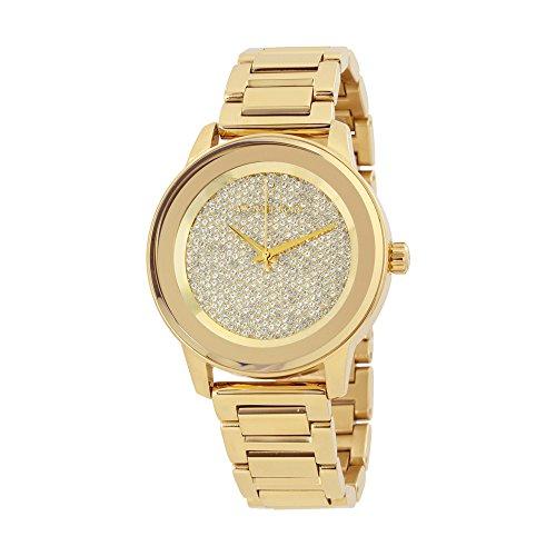 Michael Kors MK6209 orologio 41,5 mm da donna con cinturino e cassa in acciaio dorato, vetro minerale
