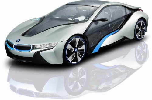 Radio Remote Control Model Car 1/14 Bmw I8 Authentic Body Styling W/Brilliant Lighting Effects Rc Vehicles (Silver)