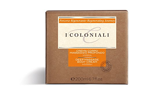I Coloniali, Crema Corpo Massaggio Profondo alla Mirra, 200 ml
