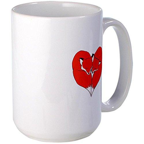 Cafepress Foxes Mate For Life Large Mug Large Mug - Standard Multi-Color