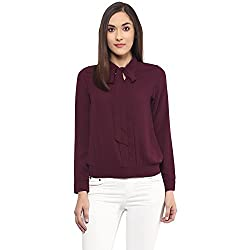 109F Women's Body Blouse Top (A16TOPS26Y PLUM S)