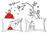 Human Touch, PETALI DELL'AMORE - Lui & Lei - federe - il romantico regalo di anniversario eccentrico, regalo di nozze, regalo di San Valentino, o semplicemente per sollevare un sorriso.