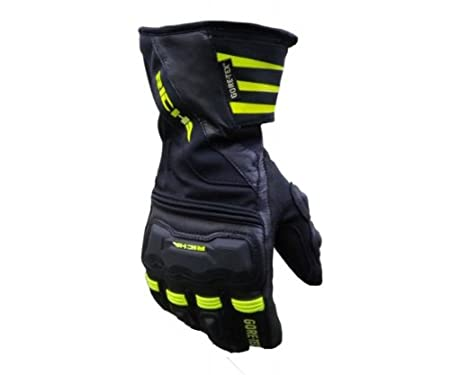 Richa froid protection GTX GORE-TEX Gants de moto Petit modèle-Jaune Fluo Sortie sur le dessus pour le Best-Gants d'hiver de £ Par www.visordown.com essai de 30 m