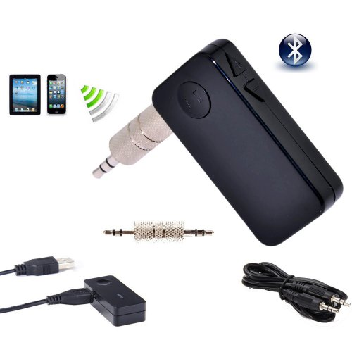 Sienoc Wireless Ad2P Bluetooth Music Audio Stereo Handsfree Receiver For Car Color Black