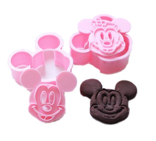 lukis 1 sets 2pcs cookie cutter pl tzchenformen keks ausstechformen rosa backformen micky. Black Bedroom Furniture Sets. Home Design Ideas