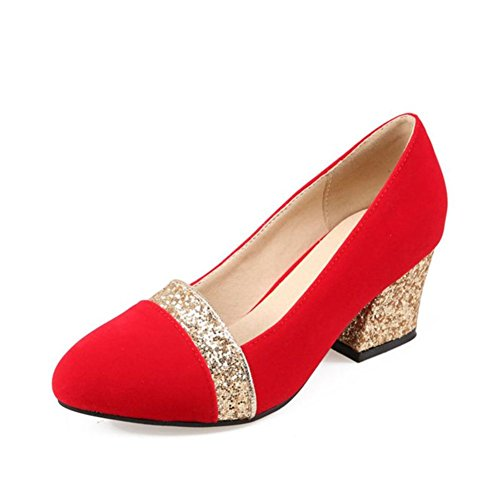 Paillettes tacchi/Scarpe moda/Scarpe da donna-A Lunghezza piede=22.8CM(9Inch)