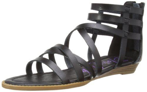 Blowfish Malibu Womens Belona Gladiator 3757 Black Dye Cut Pu 6 UK, 39 EU