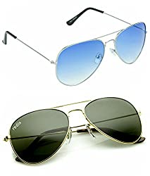 Redix New Combo Traditional Avaitor Sunglasses For Unisex (GL-BLU-02)