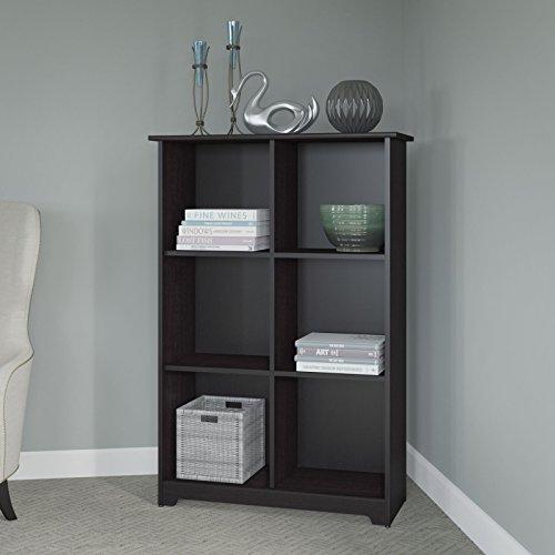 Cabot 6 Cube Bookcase In Espresso Oak 042976501303