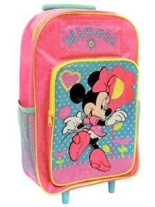 Minnie Mouse Wheeled Travel Bag Suitcase Luggage Bag Great For Children