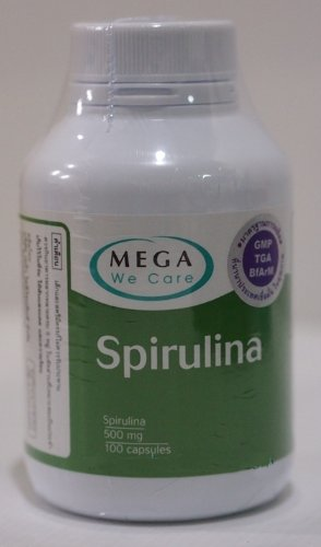 Mega We Care Spirulina 100 Capsules. [Get Free Herbal Lozenges]