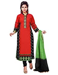 Peach Soft South Cotton Readymade Salwar Kameez Dress - Kasab & Tikki Work In Top