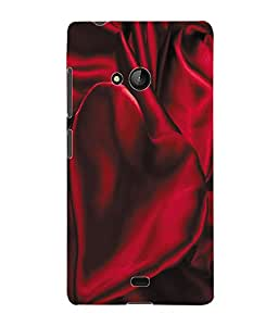 Fuson 3D Printed Satin Red Designer Back Case Cover for Microsoft Lumia 540 - D1052