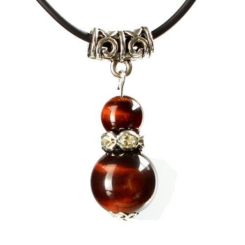 Limited Sales Promotion O-stone Bling Calabash Necklace Series Natural Red Tiger Eye with Tibetan Silver Pendant Grounding Stone Protection