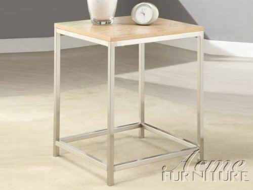 Cheap 22″H Modern OSIP Natural and Chrome End Table (AC-80028)