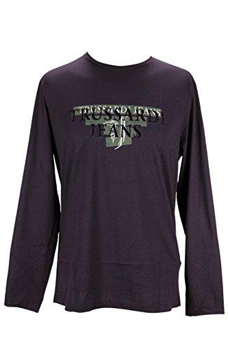 trussardi-mens-long-sleeve-graphic-t-shirt-size-xxl-us-regular-brown-cotton