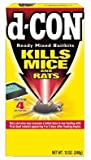 D-Con Ready Mix Rat and Mouse Killer - (Box of 4 Bait Trays)