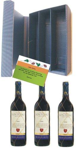 Wein-Set: spanischer Rotwein Gran Reserva in 3er Präsentbox