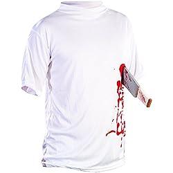 "infactory Halloween T-Shirt ""Machete in der Brust"", Gr. M"