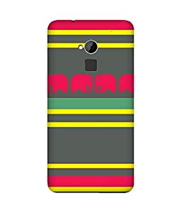 Stripes And Elephant Print (13) HTC One Max Case