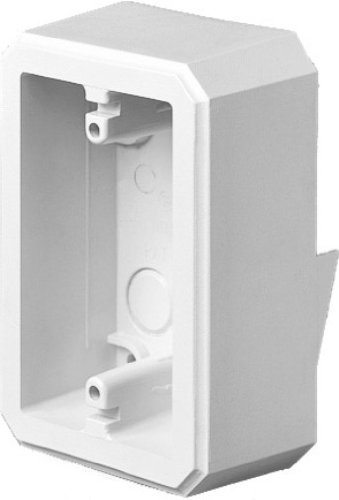 Arlington Industries FS8161 Weatherproof Flanged Outlet Switch Box for Flat Surfaces, White, 1-Pack