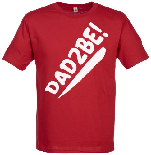 Spoilt Rotten - Dad 2 Be Men'S T-Shirt - Gift For Dad, Red, M