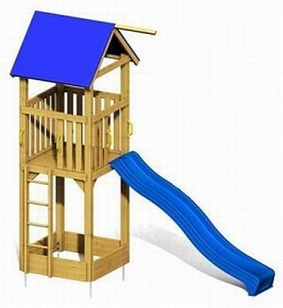 WINNETOO Spielturm GP27 mit Rutsche