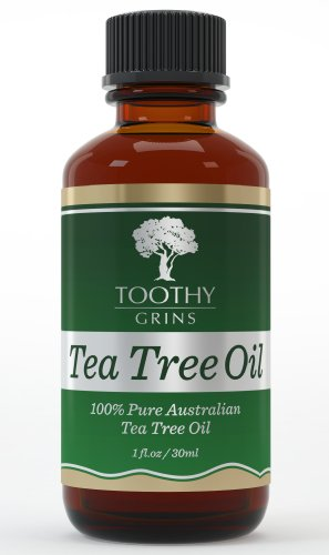 Tea Tree Oil ~ Pure 100% Australian - 1 Ounce (30 Ml) Of High Quality Premium & Pure Essential Tea Tree Oil - The Best No Smear Label - With Guarantee By Toothy Grins